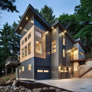 Looking for exterior home inspiration? Check out these 15 Modern Rustic Homes with Black Exteriors! MountainModernLife.com