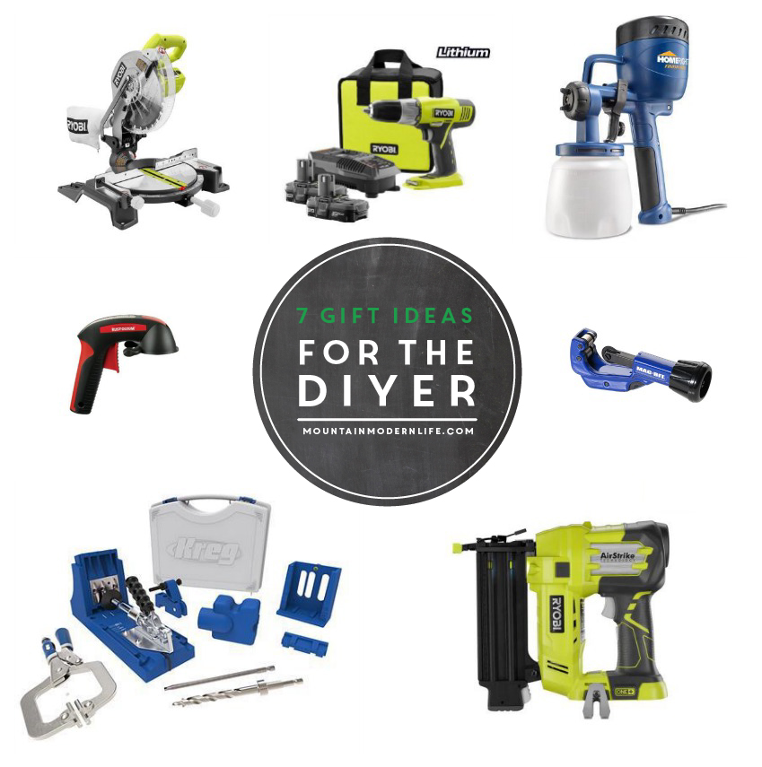 7 Gift Ideas for the DIYer, including my favorite tools and some stocking stuffers for less than $20! MountainModernLife.com