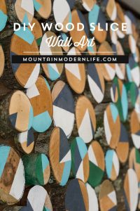 Upcycled Wood Slice Wall Art | MountainModernLife.com