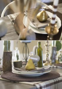 Check out how you can create a simple and rustic Give Thanks place setting for Thanksgiving. MountainModernLife.com
