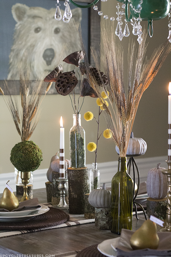 woodland-inspired-tablescape-and-bear-painting-fall-home-tour-upcycledtreasures