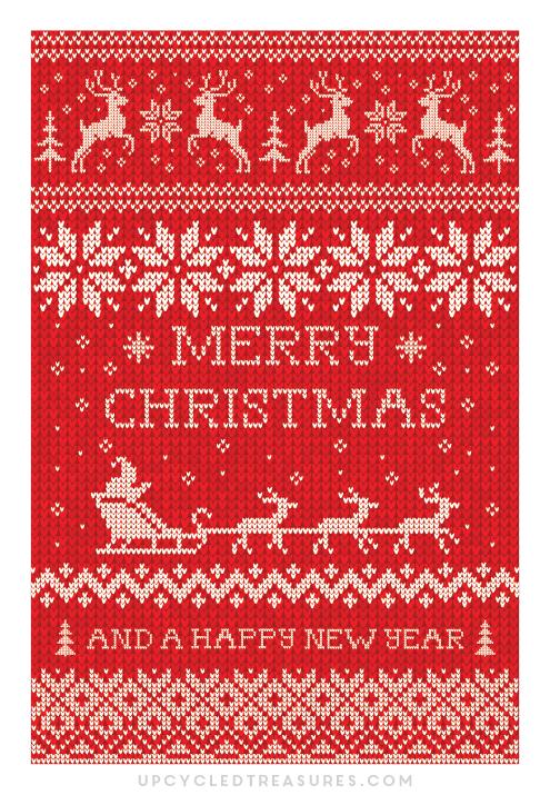 FREE-Christmas-Card-Printable-Red-Sweater-upcycledtreasures