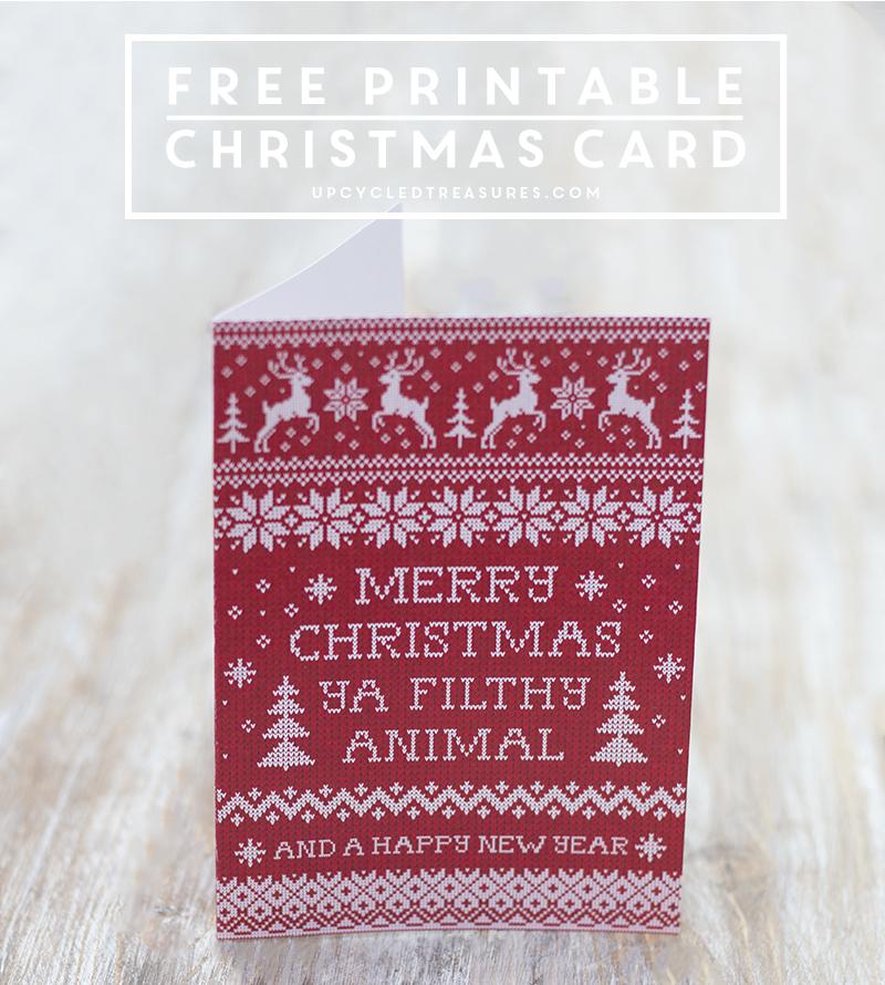 free-christmas-card-printable-red-sweater-merry-christmas-ya-filthy-animal-upcycledtreasures