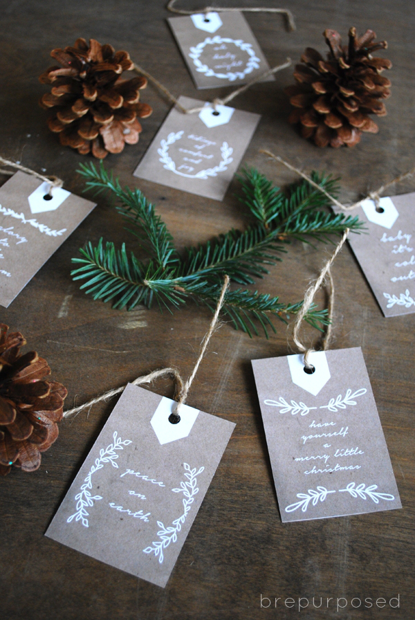 FREE Printable Holiday Gift Tags - Brepurposed