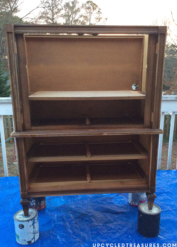 before-furniture-transformation-basic-witz-mid-century-armoire-upcycledtreasures