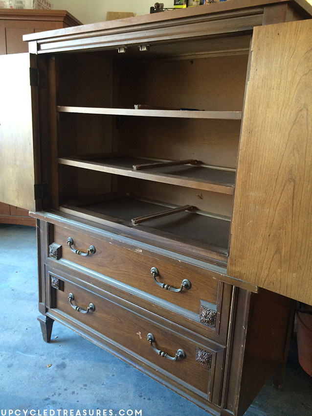 mid-century-furniture-makeover-before-photo-basic-witz-armoire-upcycledtreasures