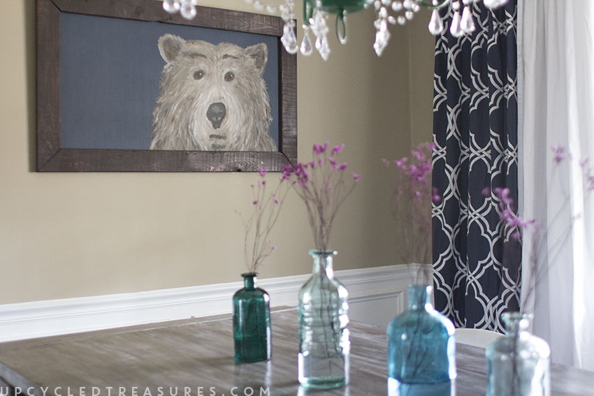 Looking to make something crafty? Check out how you can bring out your creativity with this DIY Wall Art for the dining room! MountainModernLife.com