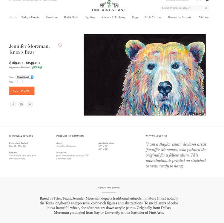 Jennifer Moreman Knox Bear Painting sm