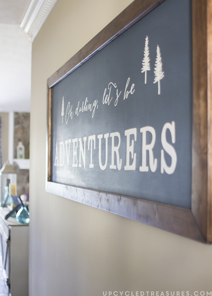 DIY Wall Art Using Easy Design Transfer - Oh Darling Let's be Adventurers -upcycledtreasures.com