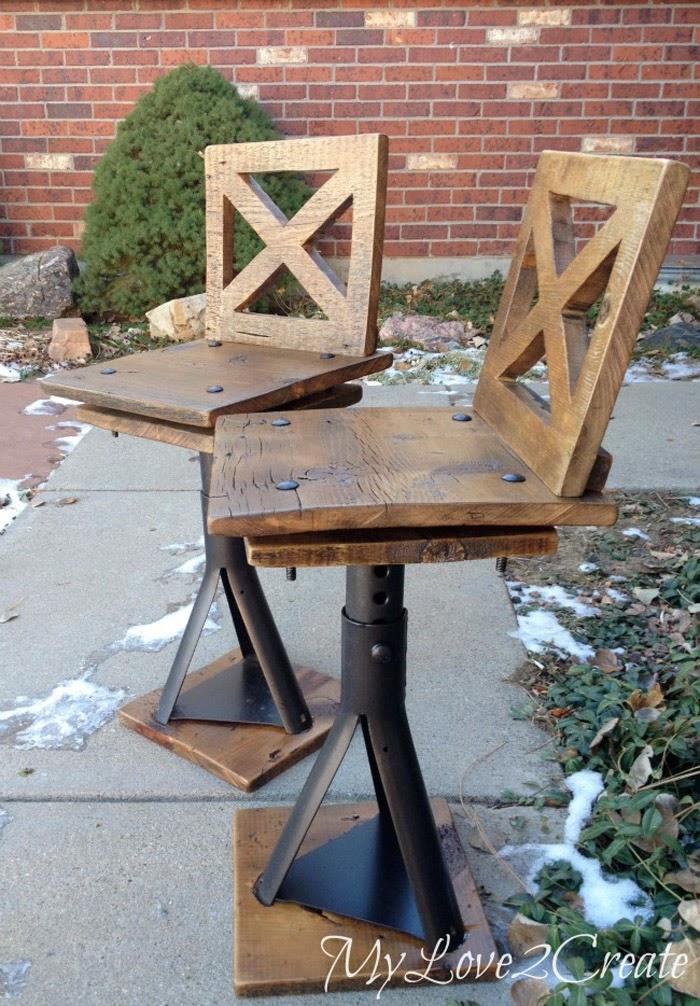 diy rustic stools