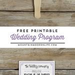 FREE Printable Vintage Inspired Wedding Program Template | MountainModernLife.com