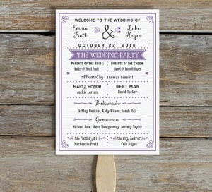 free printable vintage style poster wedding program mountainmodernlife.com