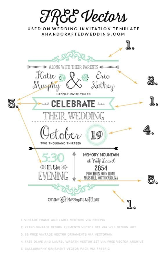 FREE Fonts to use on Rustic or Vintage Inspired Invitations + download a FREE Printable Wedding Invitation! MountainModernLife.com