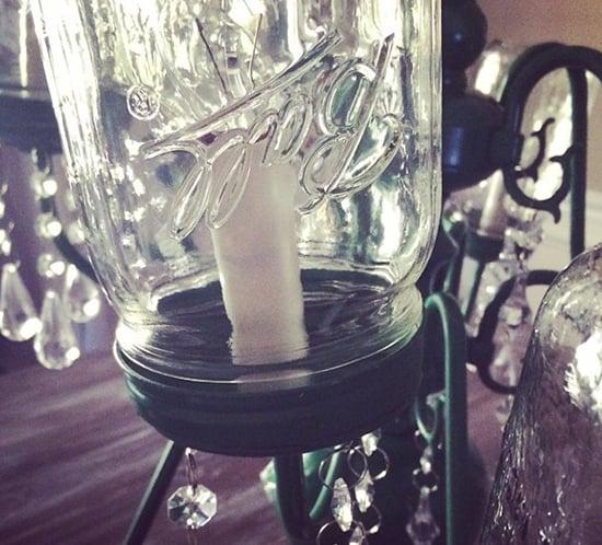 mason jar chandelier sneak peek mountainmodernlife.com