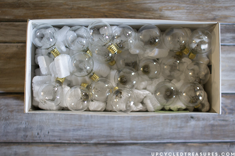 target globe lights for diy marquee sign - upcycledtreasures
