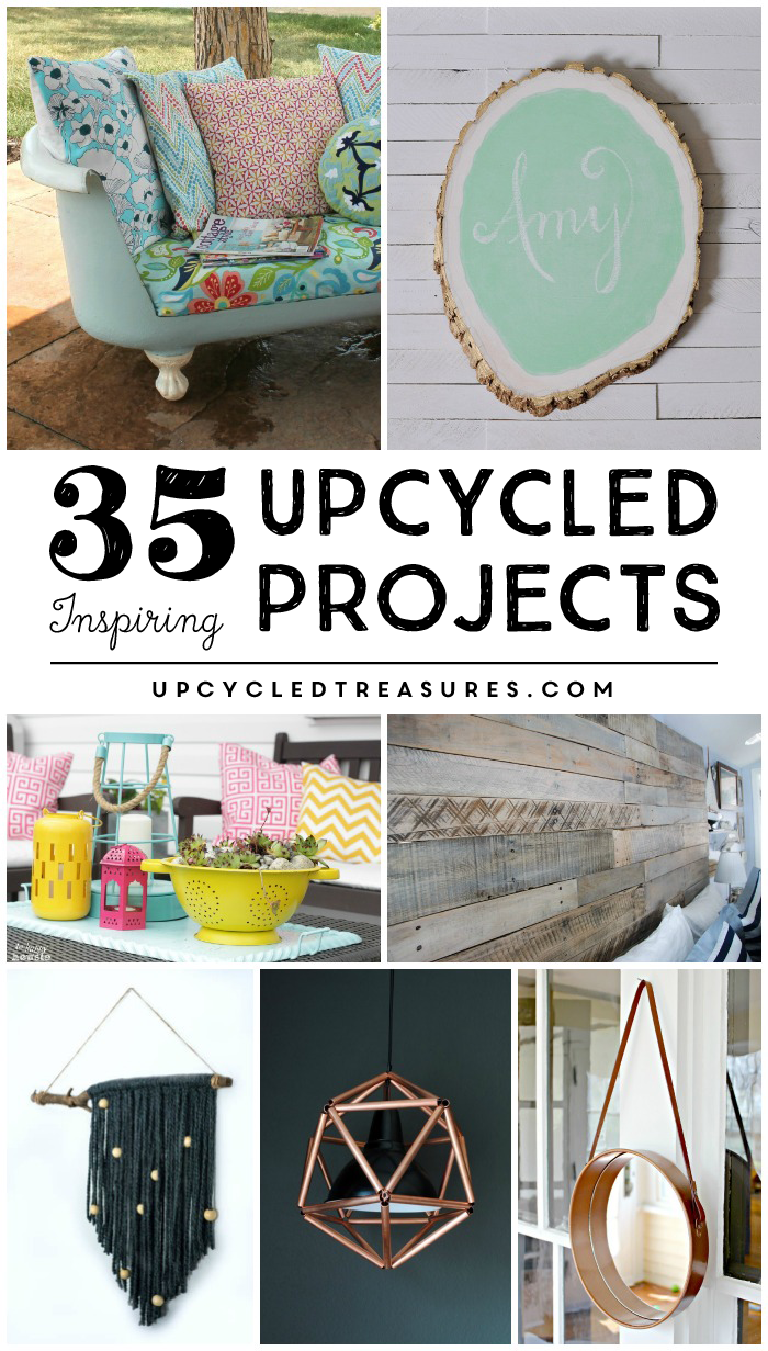 Check out this amazing list of 35 Inspiring Upcycled Projects that you will actually want to make! MountainModernLife.com