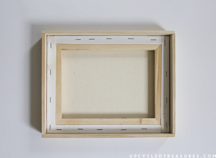 diy framed canvas. | MountainModernLife.com