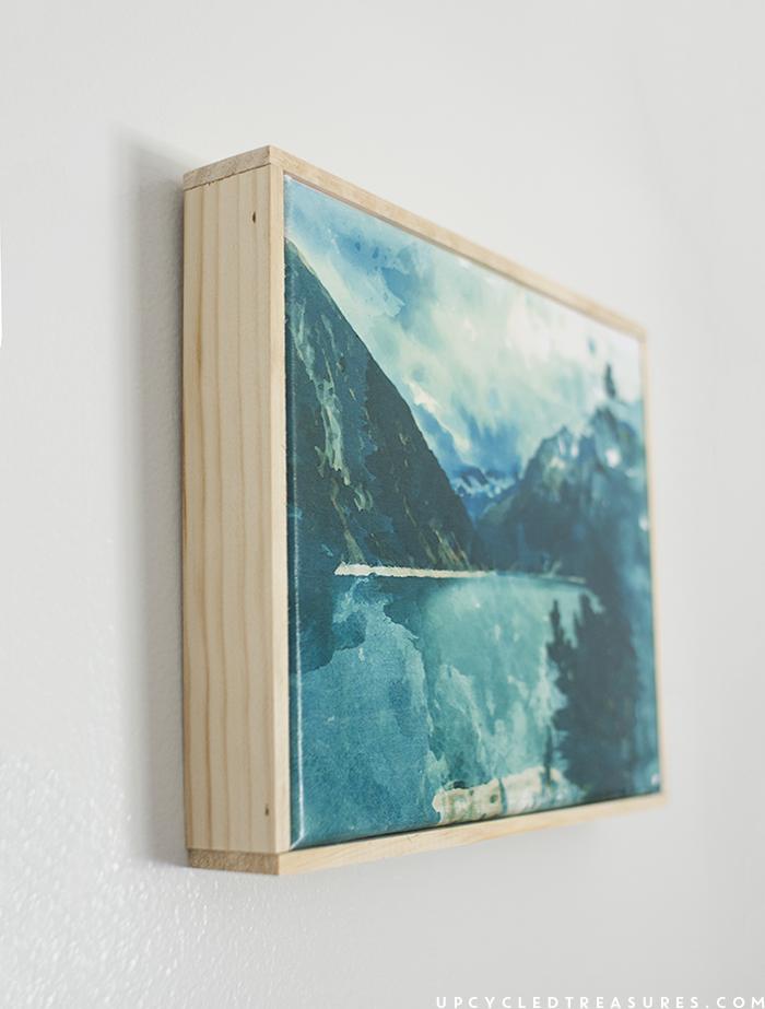 free printable watercolor mountain print. | MountainModernLife.com