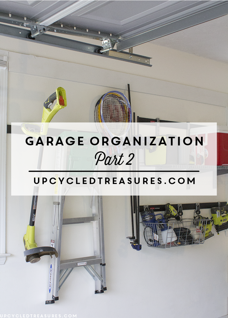 Garage Organization - How we transformed our disaster of a garage back into a useable space worthy of DIY project creation! UpcycledTreasures.com