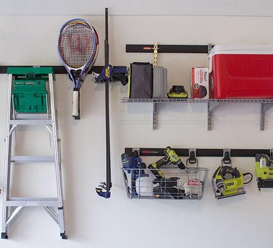 organized garage ideas using rubbermaid fasttrack mountainmodernlife.com