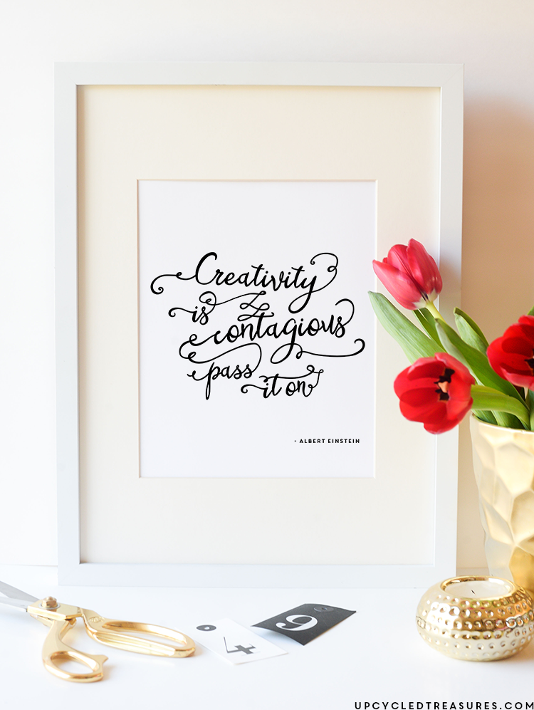 FREE Printable - Creativity is Contagious, Pass it on. On the Front Porch Interview   MountainModernLife.com