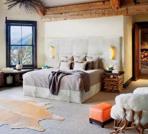 modern rustic bedroom mountain living