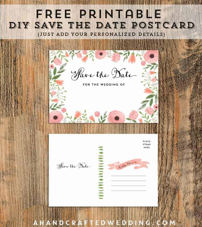 Easily download this FREE Printable DIY Save the Date Postcard and print out as many copies as you need! MountainModernLife.com