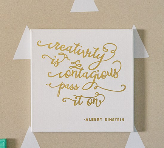 printable gold foil creativity is contagious pass it on quote mountainmodernlife.com