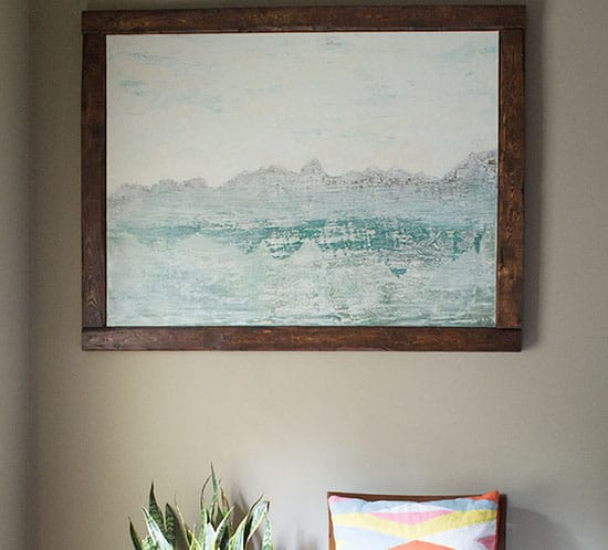 creating abstract art with texture for family room mountainmodernlife.com