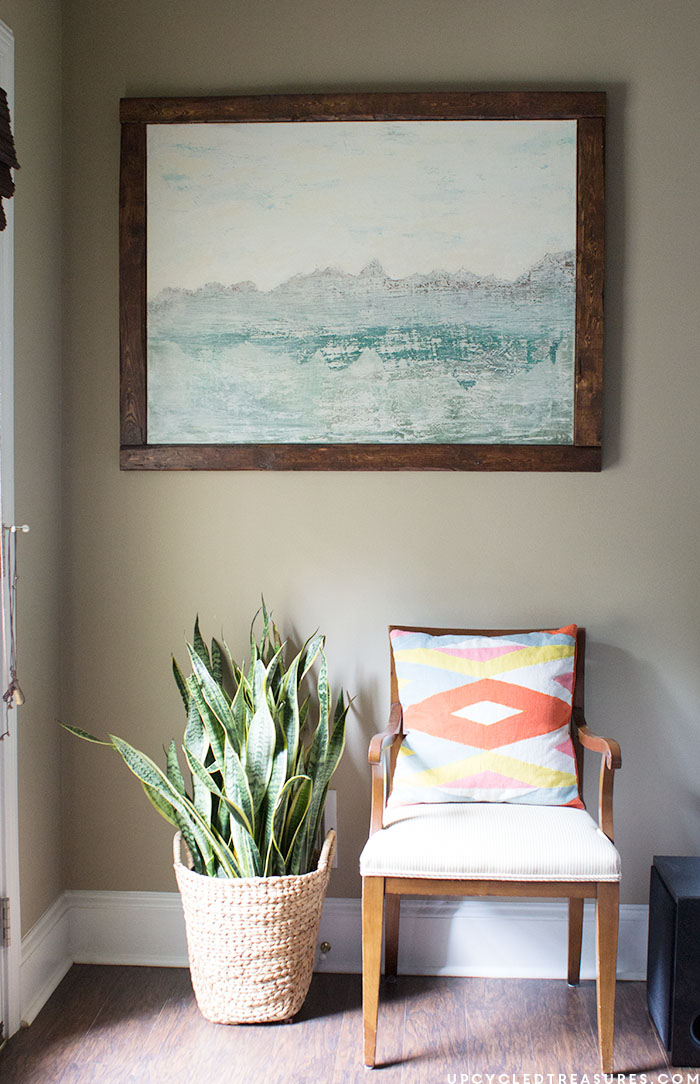 creating-abstract-art-with-texture-for-family-room-upcycledtreasures