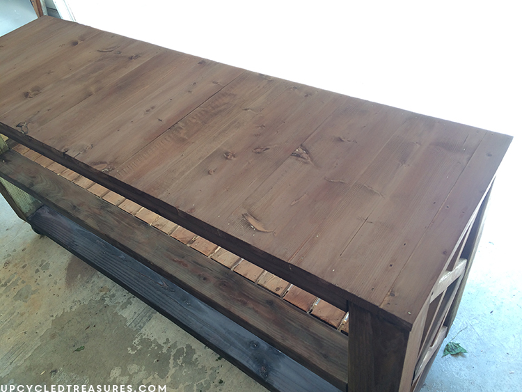 diy-rustic-console-table-with-tea-stain-upcycledtreasures