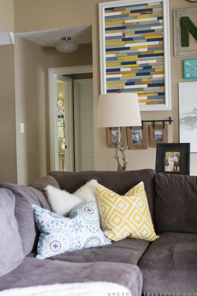 family-room-gallery-wall-with-DIy-wood-shim-wall-art-upcycledtreasures