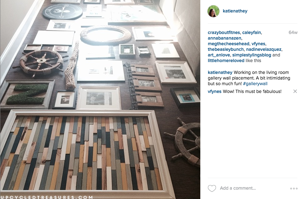 gallery-wall-process-for-living-room-on-instagram-upcycledtreasures