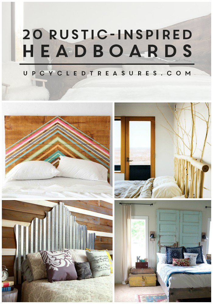 20 Rustic Inspired Headboards collage   MountainModernLife.com