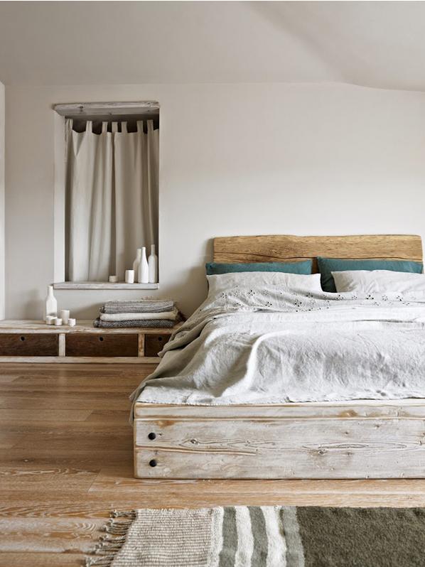Rustic Platform Bed Headboard
