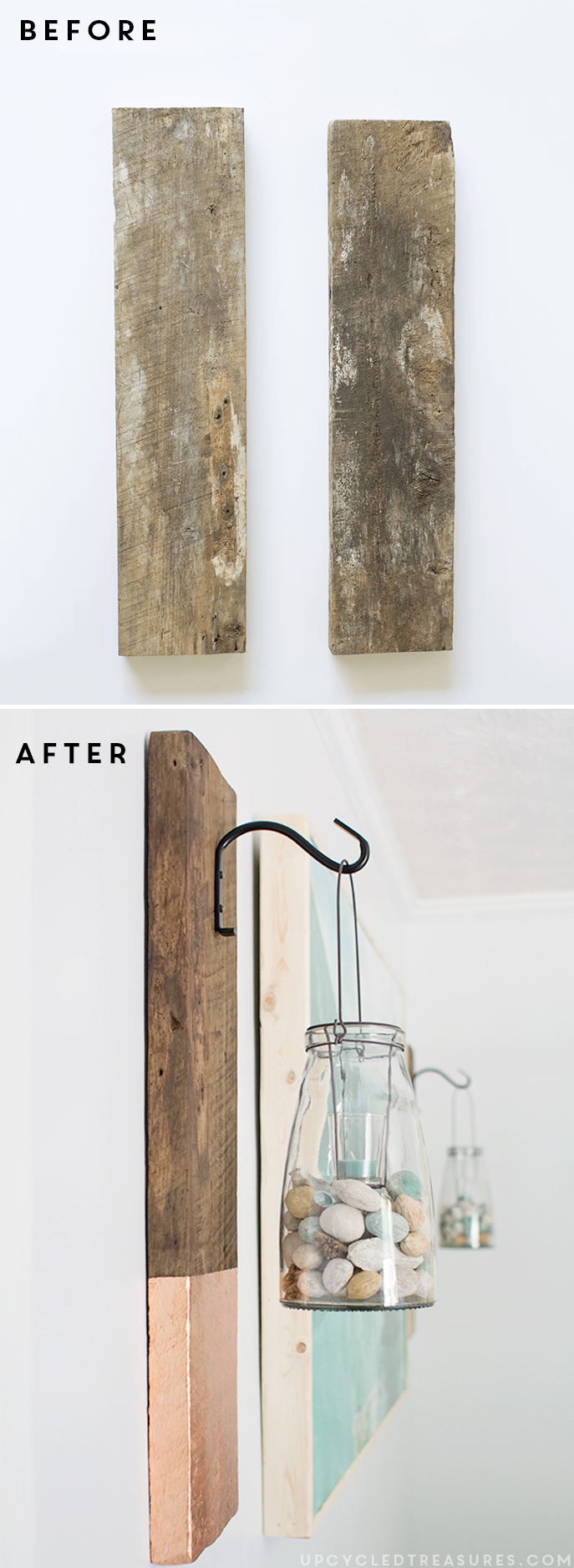 How to Create Modern Rustic Wall Hangings   upcycledtreasures.com