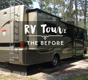 RV motorhome tour before makeover tiffin openroad mountainmodernlife.com