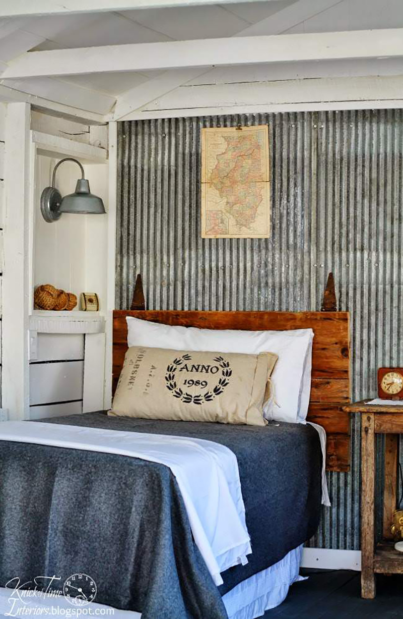Guest Room Reveal with Reclaimed Corrugated Metal | Knick of Time Interiors