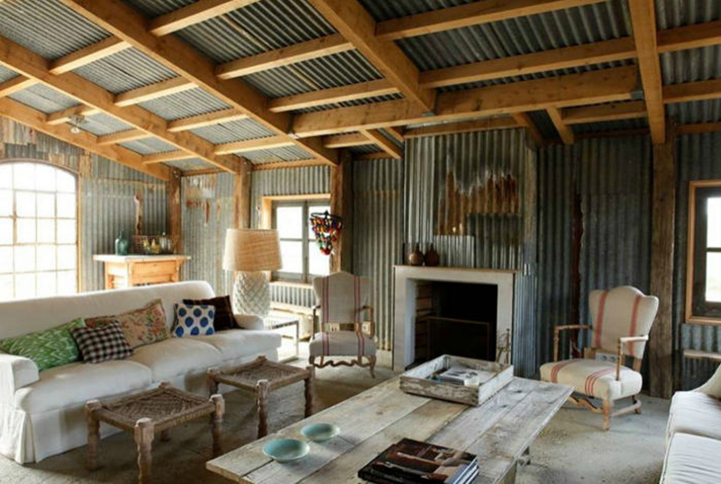 French Farmhouse with Corrugated Metal | One Kind Design