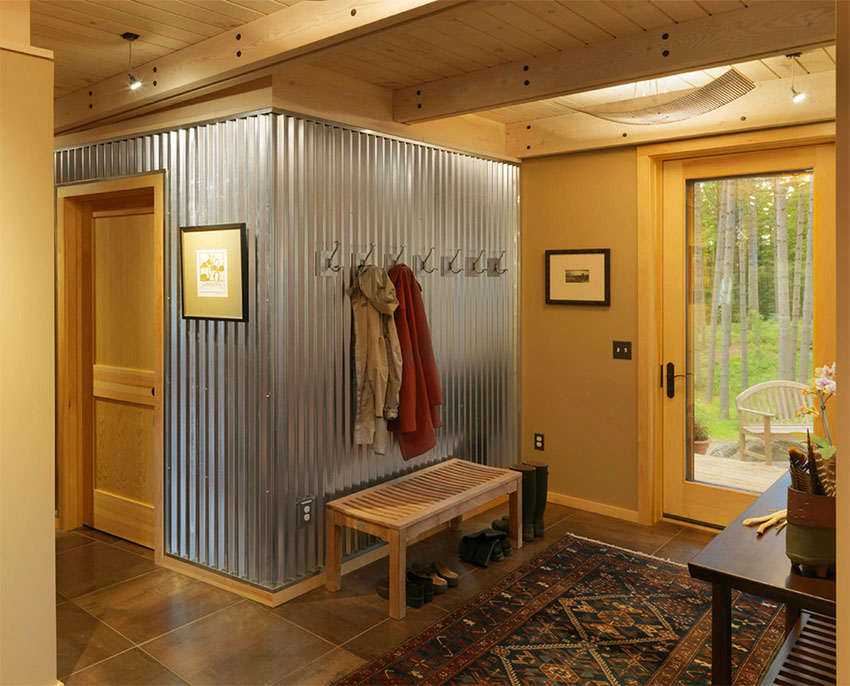 Contemporary Entry with Corrugated Sheet Metal | Cushman Design Group
