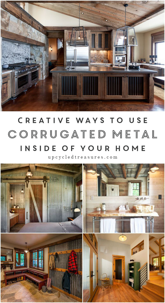 Corrugated Metal isn't just for roofs, check out these creative ways to use corrugated metal in Interior Design. MountainModernLife.com