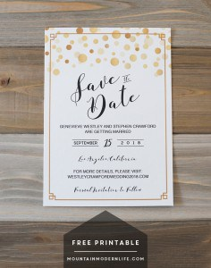 FREE Printable Save the Date Template   MountainModernLife.com