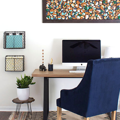 Modern Rustic Home Office Retreat | MountainModernLife.com