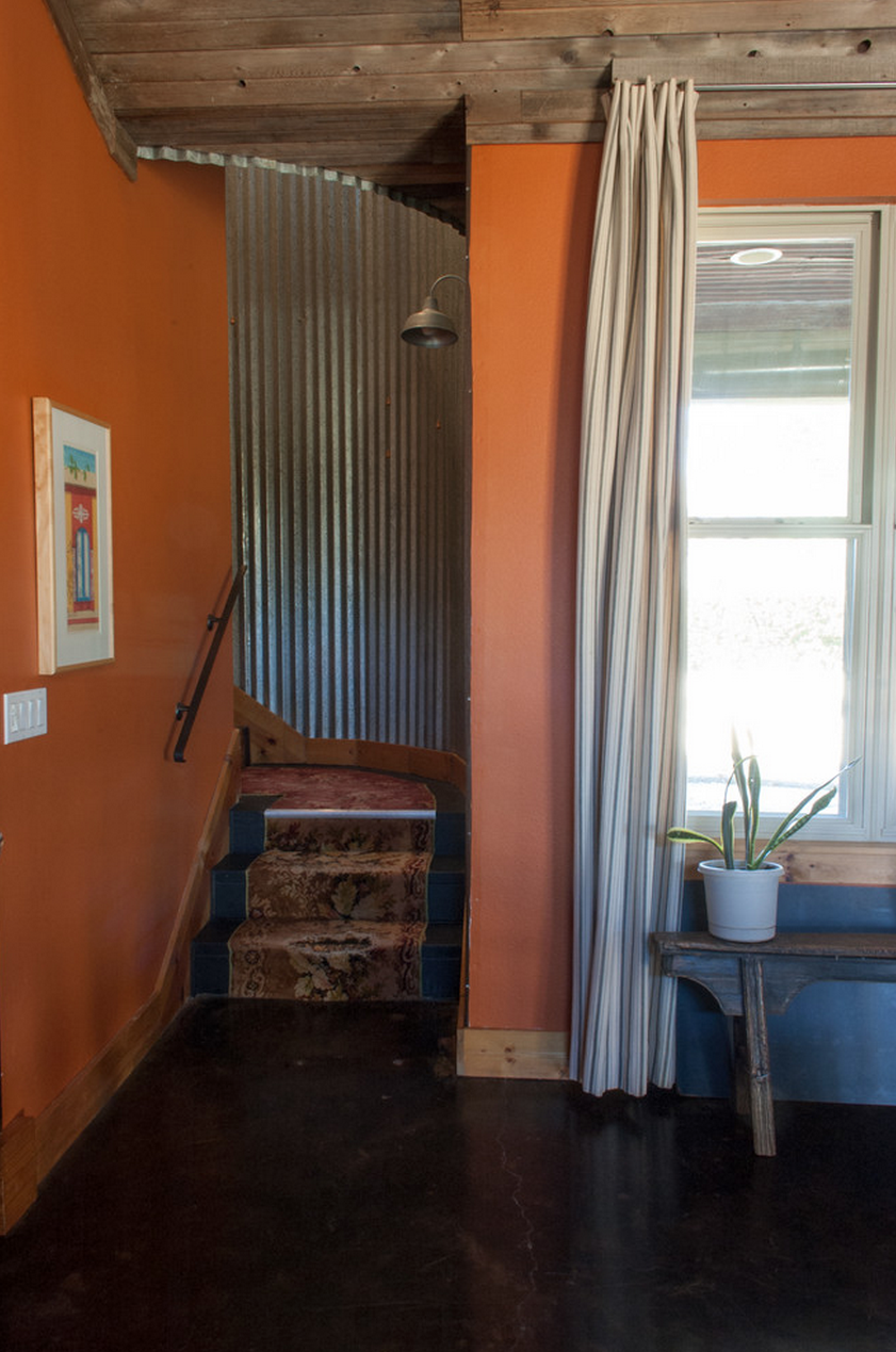 Eclectic Corrugated Metal Staircase | Angela Flournoy