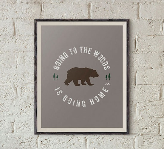 FREE printable going to the woods is going home quote mountainmodernlife.com