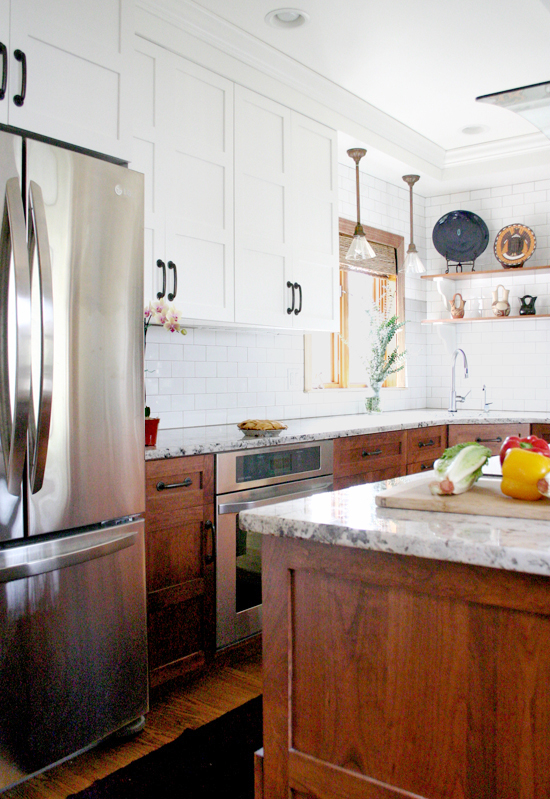Stunning Kitchen Designs with 2-Toned Cabinets | Craftsman Wood+White Kitchen Reveal | Design Manifest