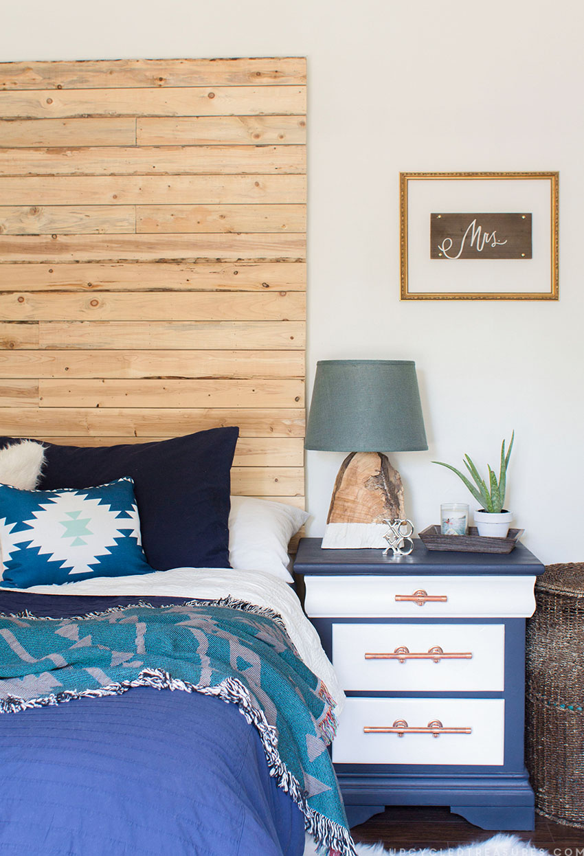 picture of finished nightstand in bedroom suite. MountainModernLife.com