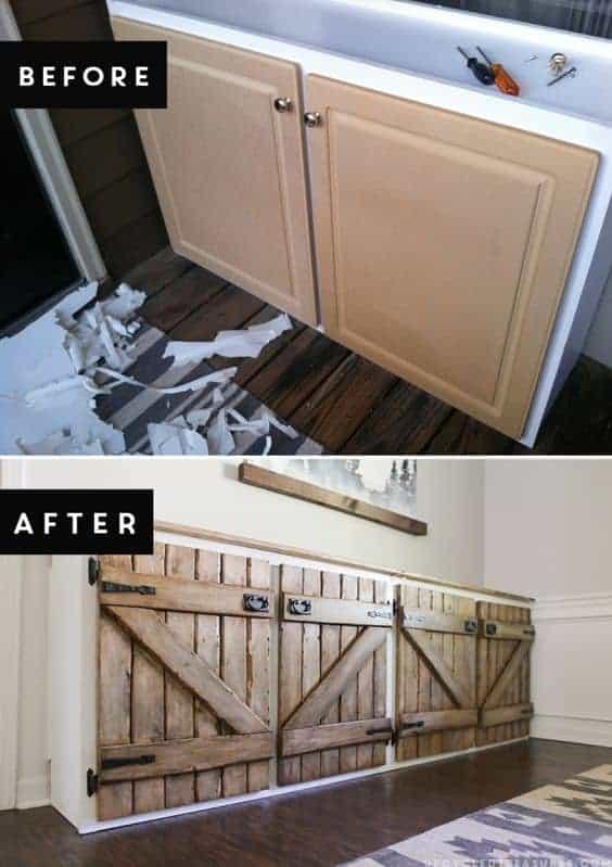 Trash to Treasure: Upcycled Barnwood Style Sideboard
