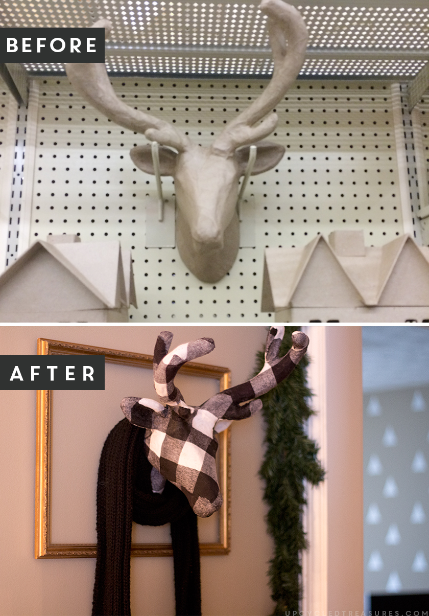 Add a touch of whimsy to your rustic decor with this DIY fabric animal wall sculpture. Not only is it easy to make, but it can easily be customized! upcycledtreasures.com