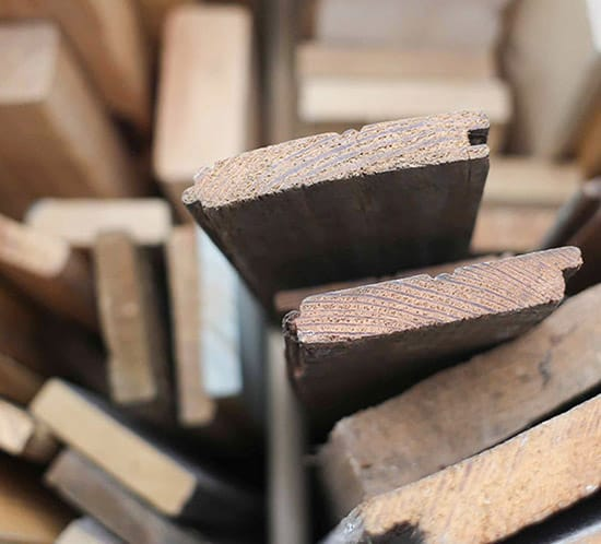 scrap wood organization using trash can mountainmodernlife.com